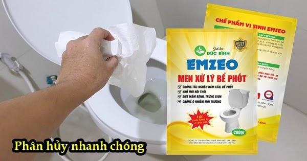 Dùng hóa chất phân hủy bể phốt