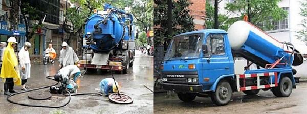 Các loại xe chuyên dụng được dùng để thông cống nghẹt