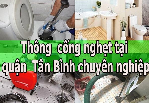 Dịch vụ thông cống nghẹt tại quận Tân Bình