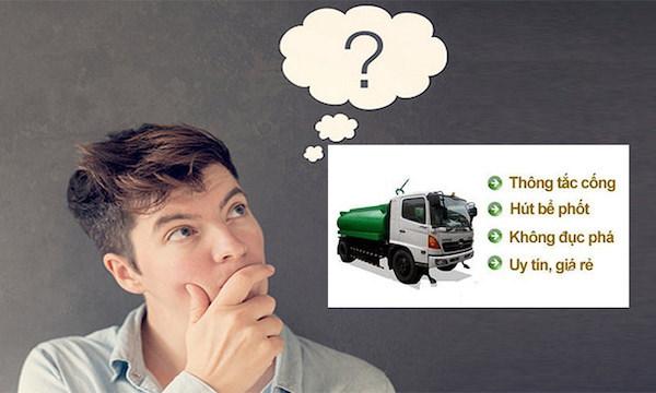Những câu hỏi về dịch vụ thông cống nghẹt